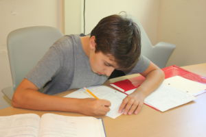 Russo works on his homework for his AP Calculus AB class.