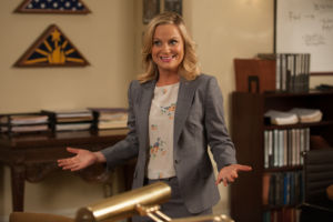 Leslie Knope (Amy Poehler) is the enthusiastic Deputy Director of Parks and Recreation for the fictional town of Pawnee.