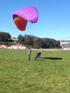 Practicing with an instructor in San Francisco, Ryan began paragliding when he was 14 years old.