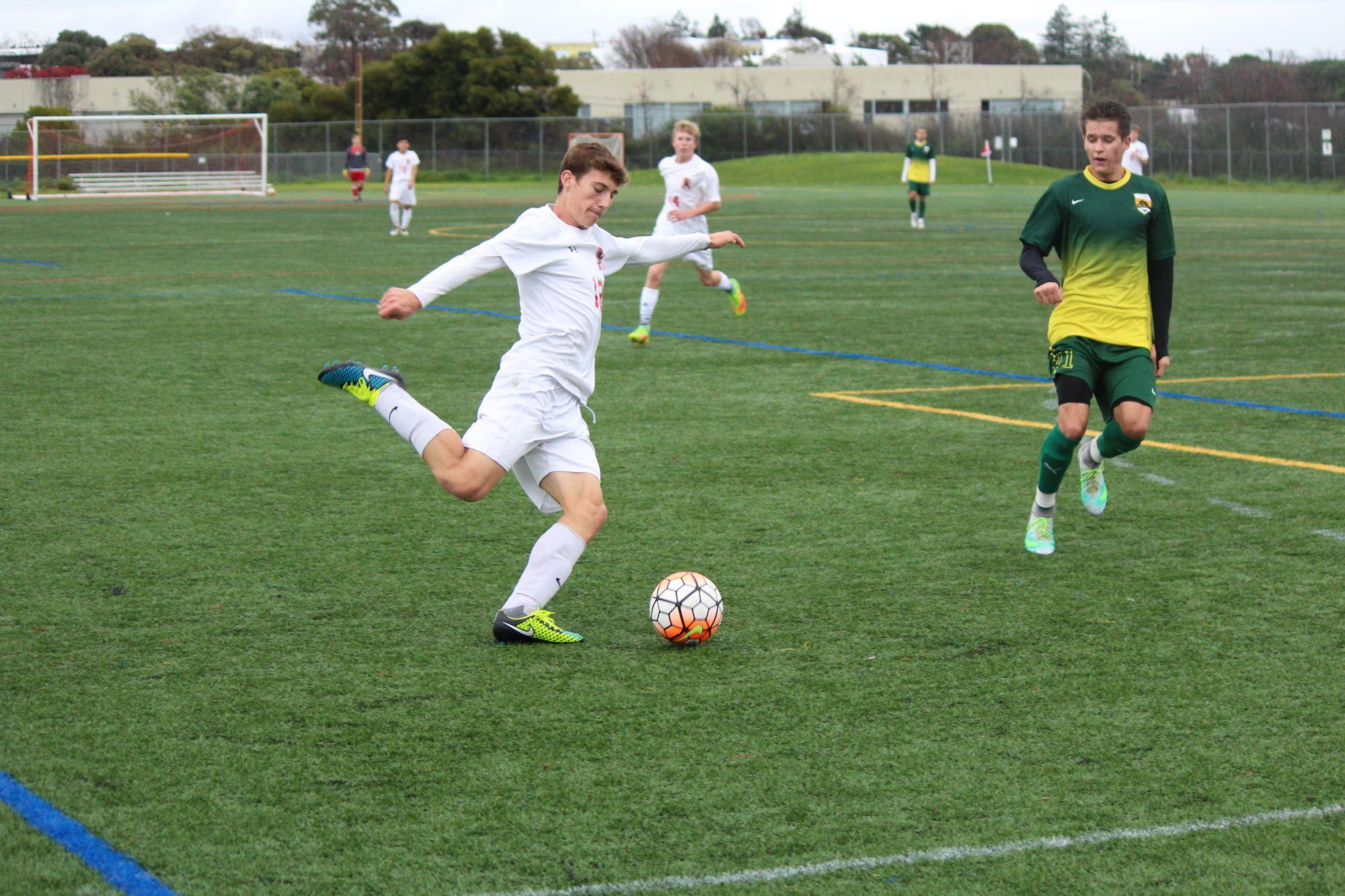 Boys' varsity soccer dominates San Marin in first league victory