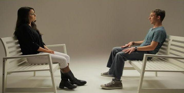 Monetta interviews another teen for the film