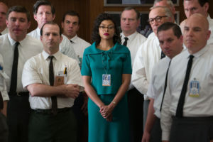 Surrounded by middle-aged white mathematicians, Katherine Johnson (Taraji P. Henson) eventually manages to command both the respect and admiration of her coworkers.