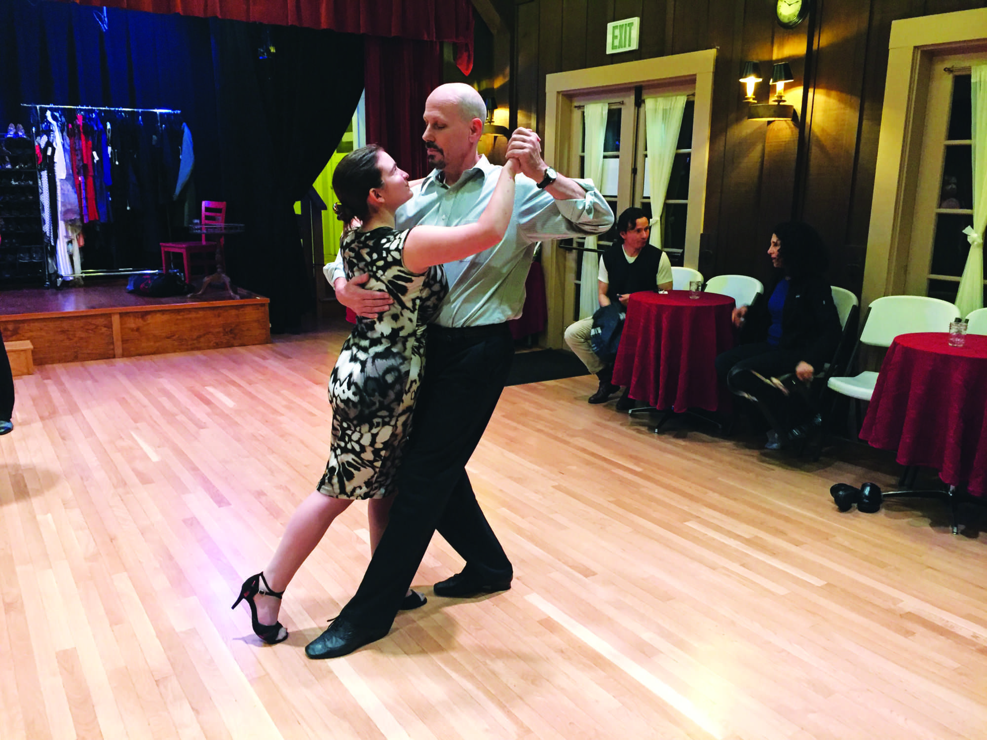 SOPHOMORE MADSEN SPARLER presents the Argentine tango with her partner. Sparler dances in a class of adults older than her by at least thirty years.