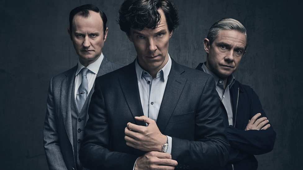 """BBC's """"Sherlock"""" stars Benedict Cumberbatch as the infamous detective Sherlock Holmes, adapted from Sir Arthur Conan Doyle's detective stories."""