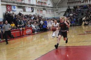 Sophomore Jenny Walker drives to the basket.