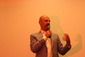Recounting a humorous tale about his grandmother, Maz Jobrani had the entire room laughing at the end of the night.