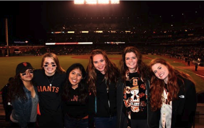 Izzy Corn and her friends enjoy going to Giants games on weekends during the season