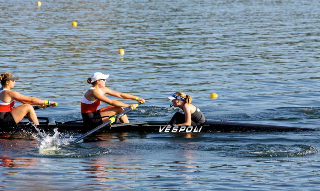 Rowing in the position of stroker as a sophomore, Caroline set the pace and rhythm of her team at the front of the boat. She currently rows in the middle of the boat wherever her talents are needed.