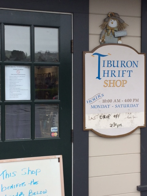 Poppin' tags at the Tiburon Thrift Shop