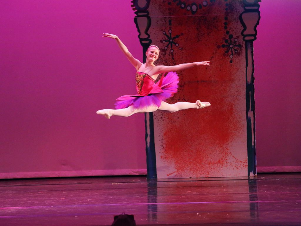 Gaudin dances as rose queen two years ago in the nutcracker. Courtesy of: Mark Strassman