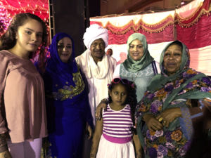 Celebrating with her family in Sudan, Laqta has stayed connected to her religion by visiting frequently