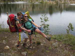 Beginning at Echo Lake, Julia started the first days on the trail with Robert.