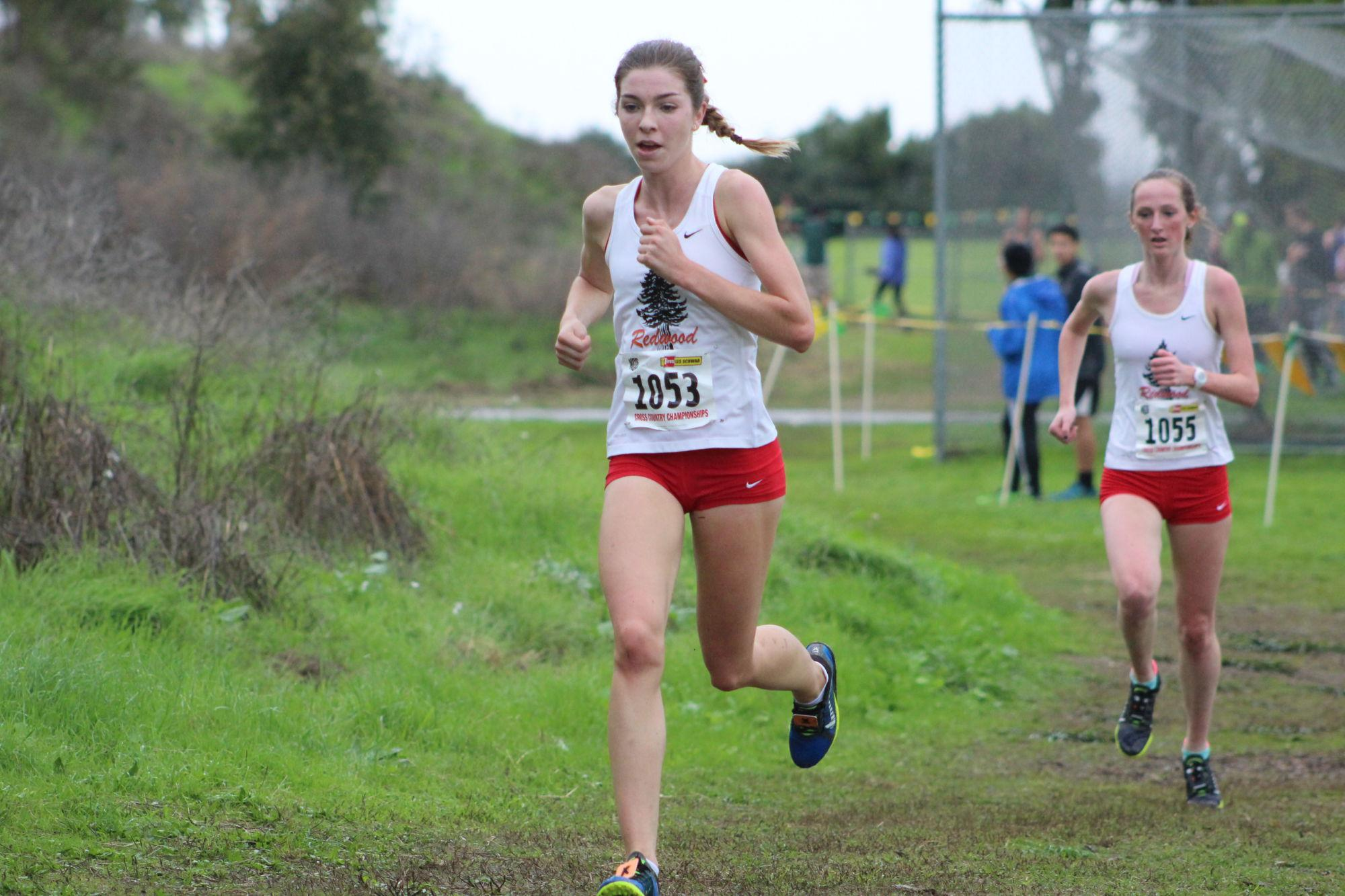 Senior Glennis Murphy runs during a cross country meet.