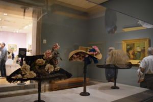 Scattered throughout the Degas exhibit were display cases of late 19-century era hats, which were a symbol of class and inspired many artists' work around that time.