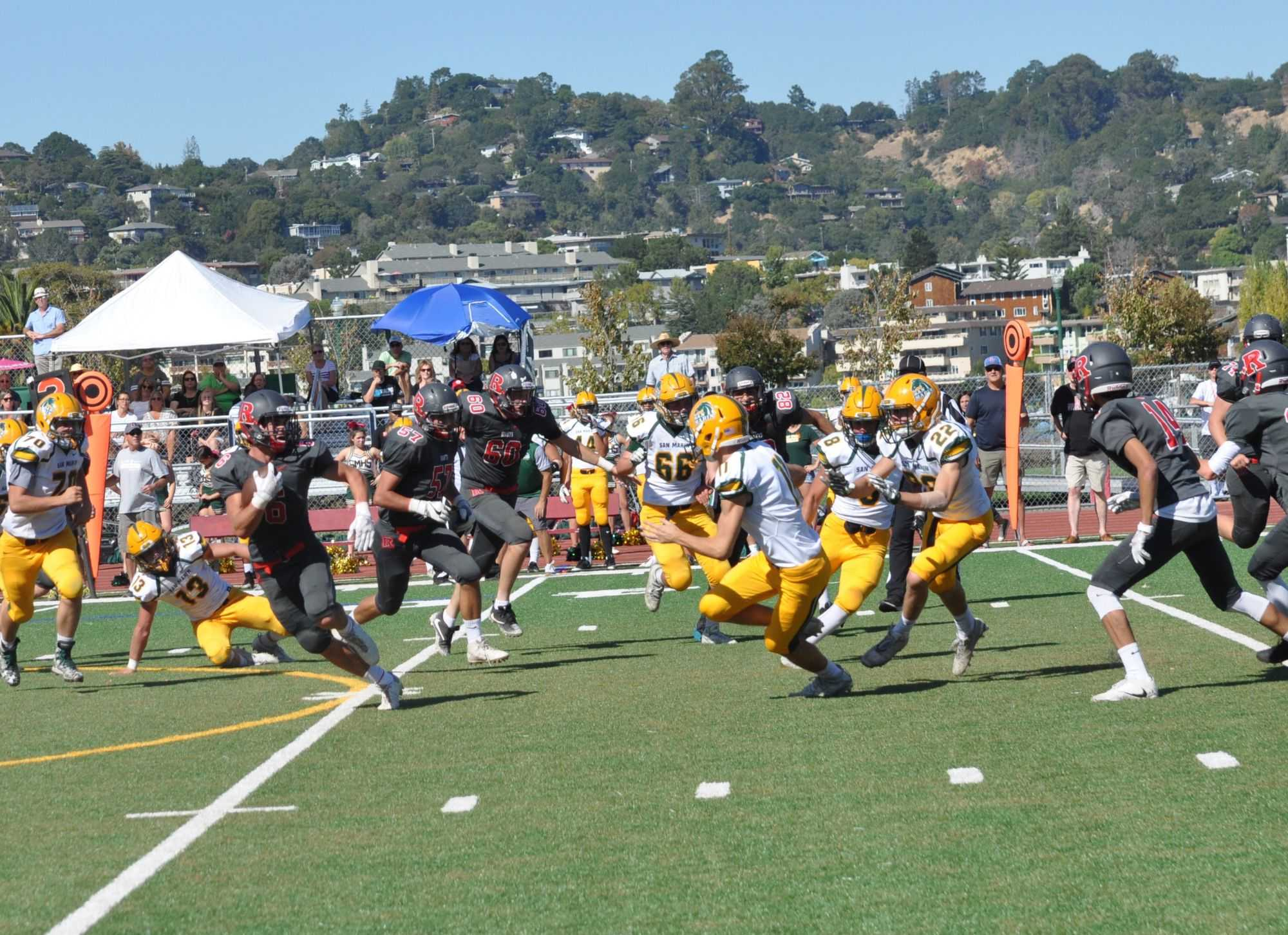Varsity football's defeat against San Marin Mustangs adds to their many losses