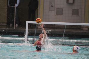 Junior Katie Treene rises to block a shot