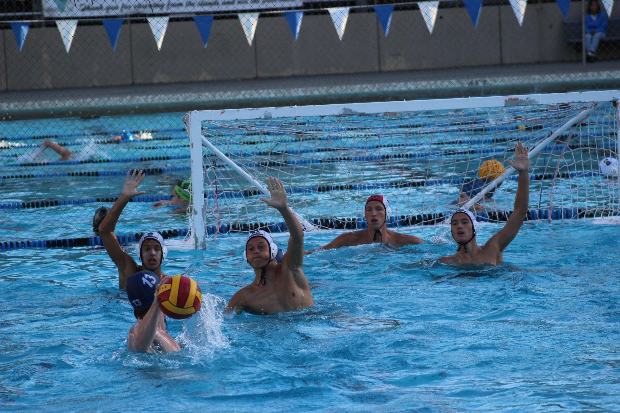 Boys' varsity water polo triumphant over Justin Siena