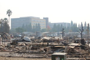 A trailer park community incinerated in Santa Rosa.