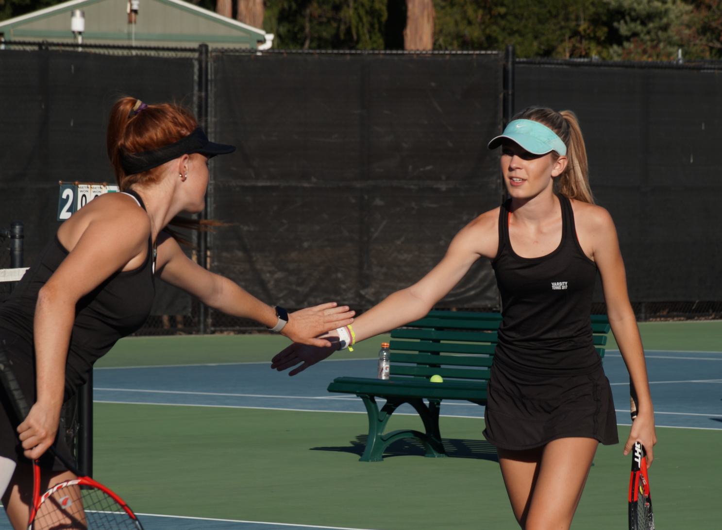 Girls' tennis captures win against Marin Catholic in expected victory