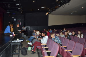 A meeting was held on Nov. 6 in the little theatre for anyone who wanted to be a featured lip singer.