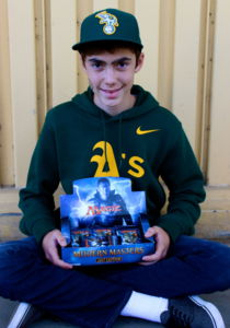 Dibble poses with his Magic set