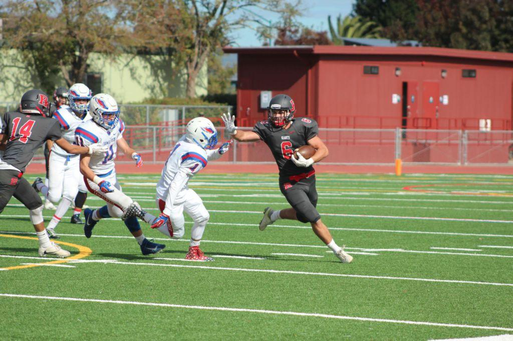 Redwood almost fumbles win in the homecoming football game