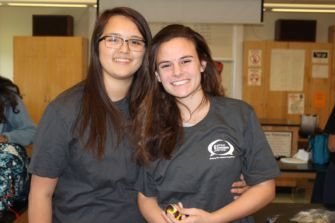 Founding the Bring Change to Mind Club, seniors Nicole Fazzari and Lindsay Taitz organize meetings every Tuesday.