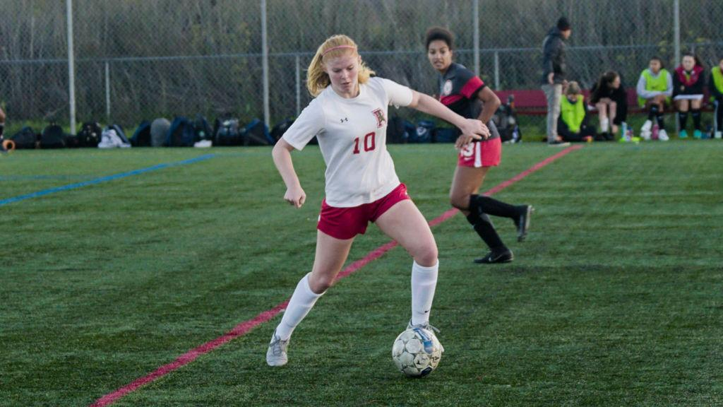 Girls' varsity soccer opens with a five-to-one victory over MA