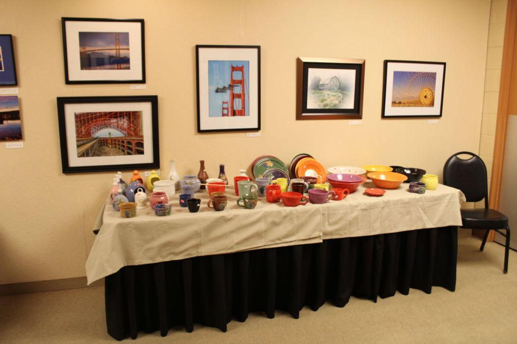Holiday boutique at the Marin Center displays a collection of art and handmade items for purchase