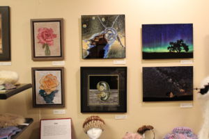 Just a few of the dozens of paintings throughout the gallery