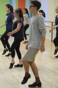 John O'Neal dances during tap class