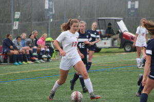 #13 Shannon Watridge led Redwood with two second-half goals
