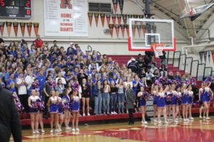 The Tamalpais High School student section at Tuesday night's game was crowded and boisterous.