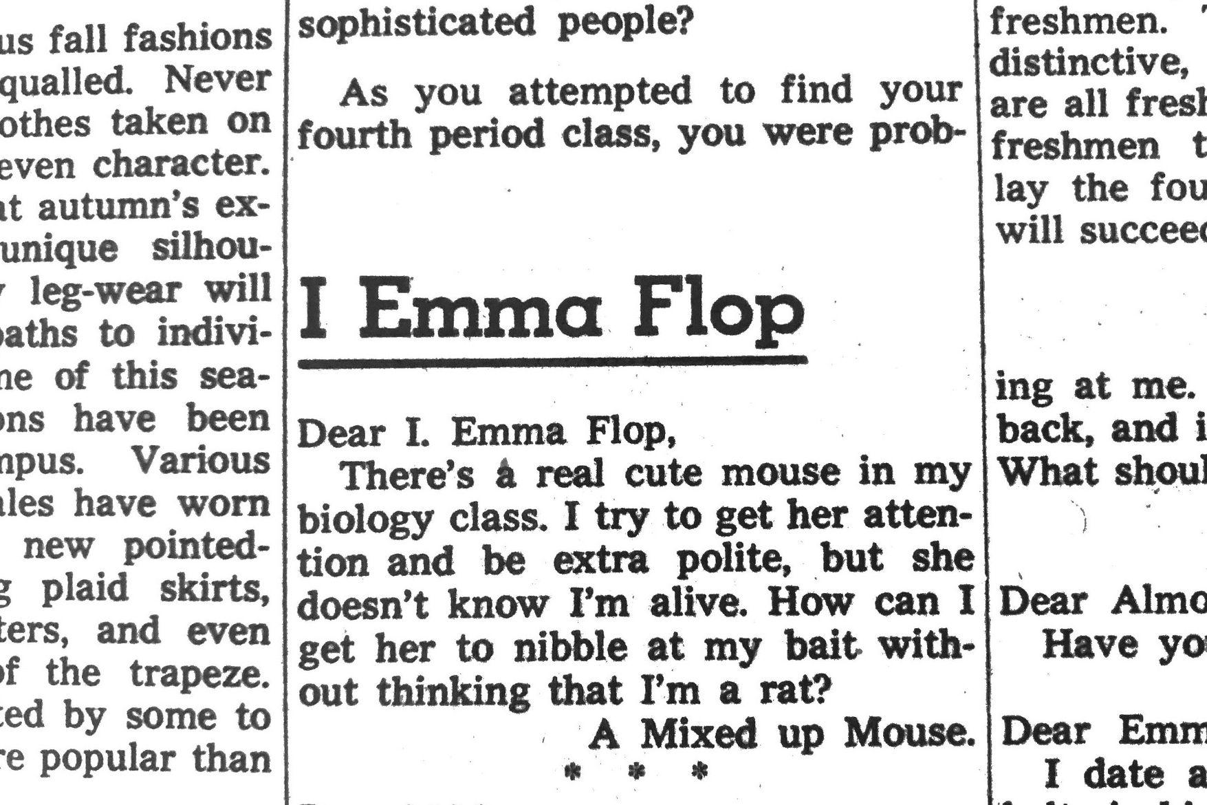 I Emma Flop: Reviving the Bark Advice Column from 1958