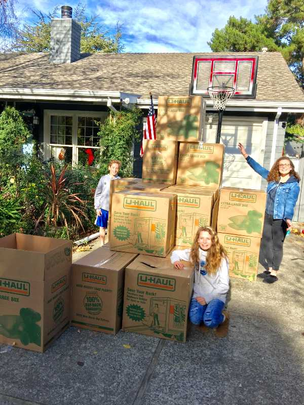 Redwood family gives back to world by collecting 1,300 shoes for charity