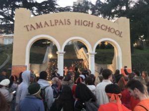 Growing in size as the night progressed, the vigil was attended by over 100 students, parents, faculty members, and other people from the community.