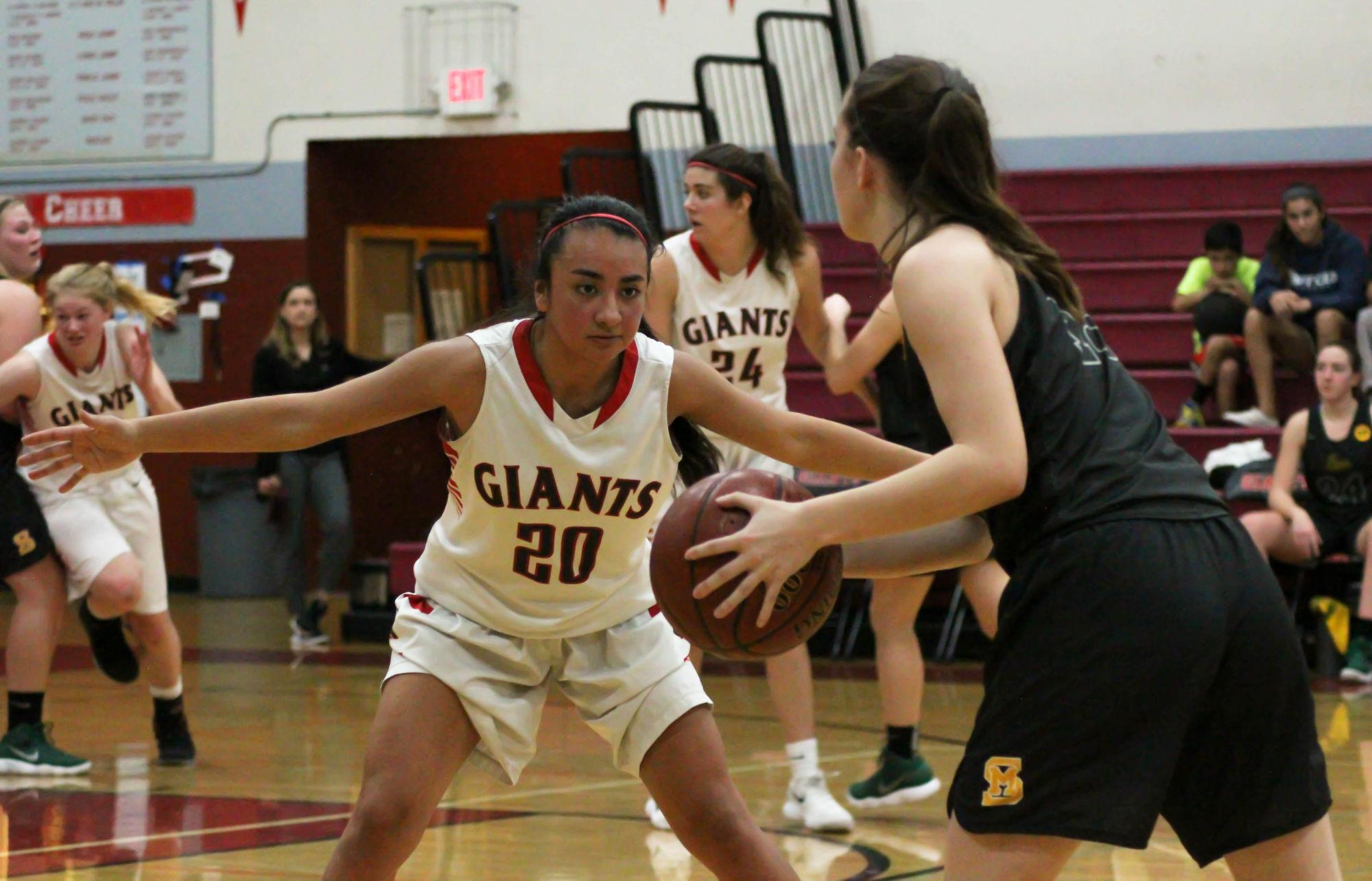 Girls' varsity basketball outlast San Marin in Senior Night victory