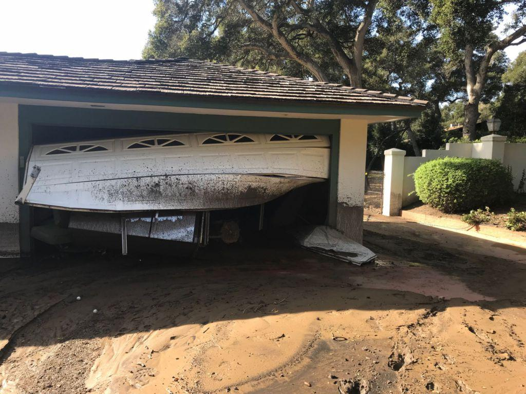 Senior Karmen's garage faced damage after mudslide hit her house in Santa Barbara.