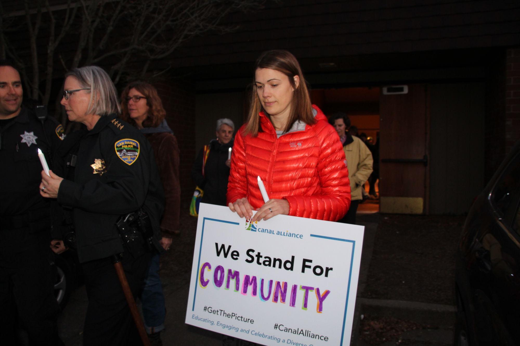 Valentine's Day community event celebrates diversity with candlelight walk