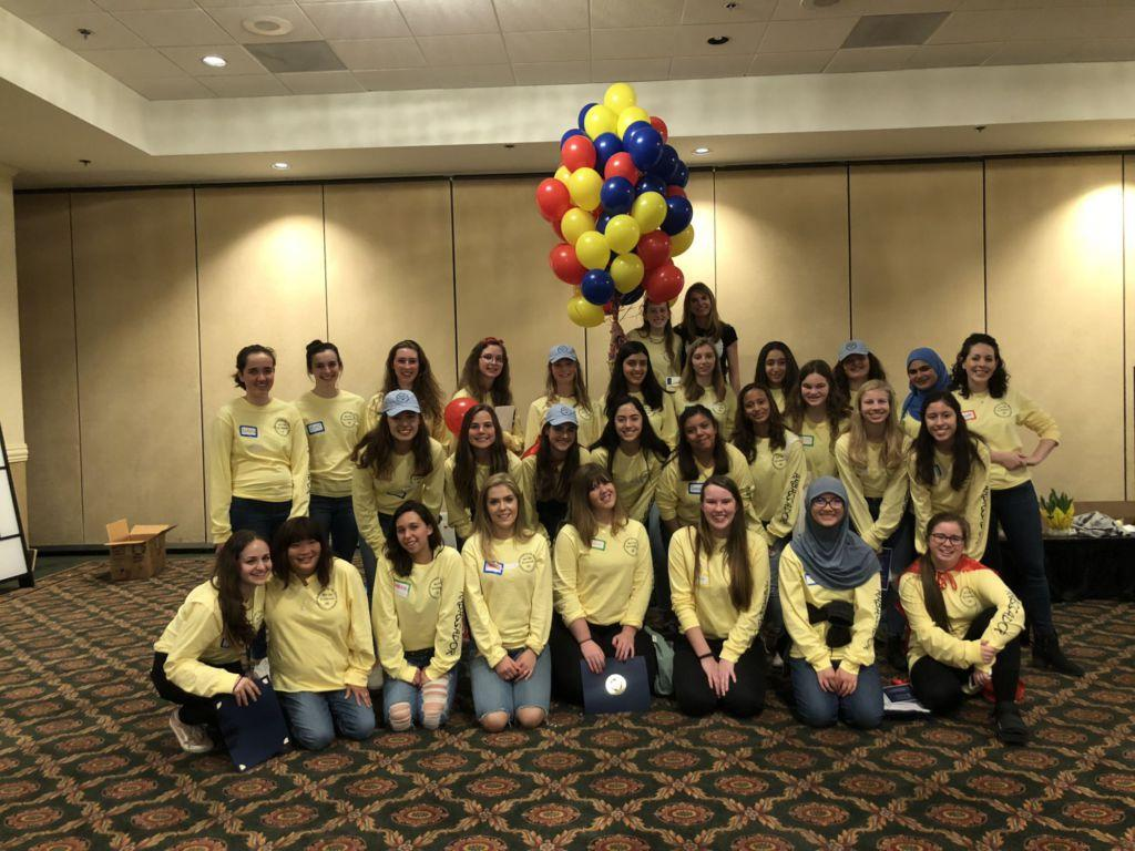Teen ambassadors group together with chair Ann Morrison and ambassador chair Amanda Grey after the Marin Teen Girl Conference.