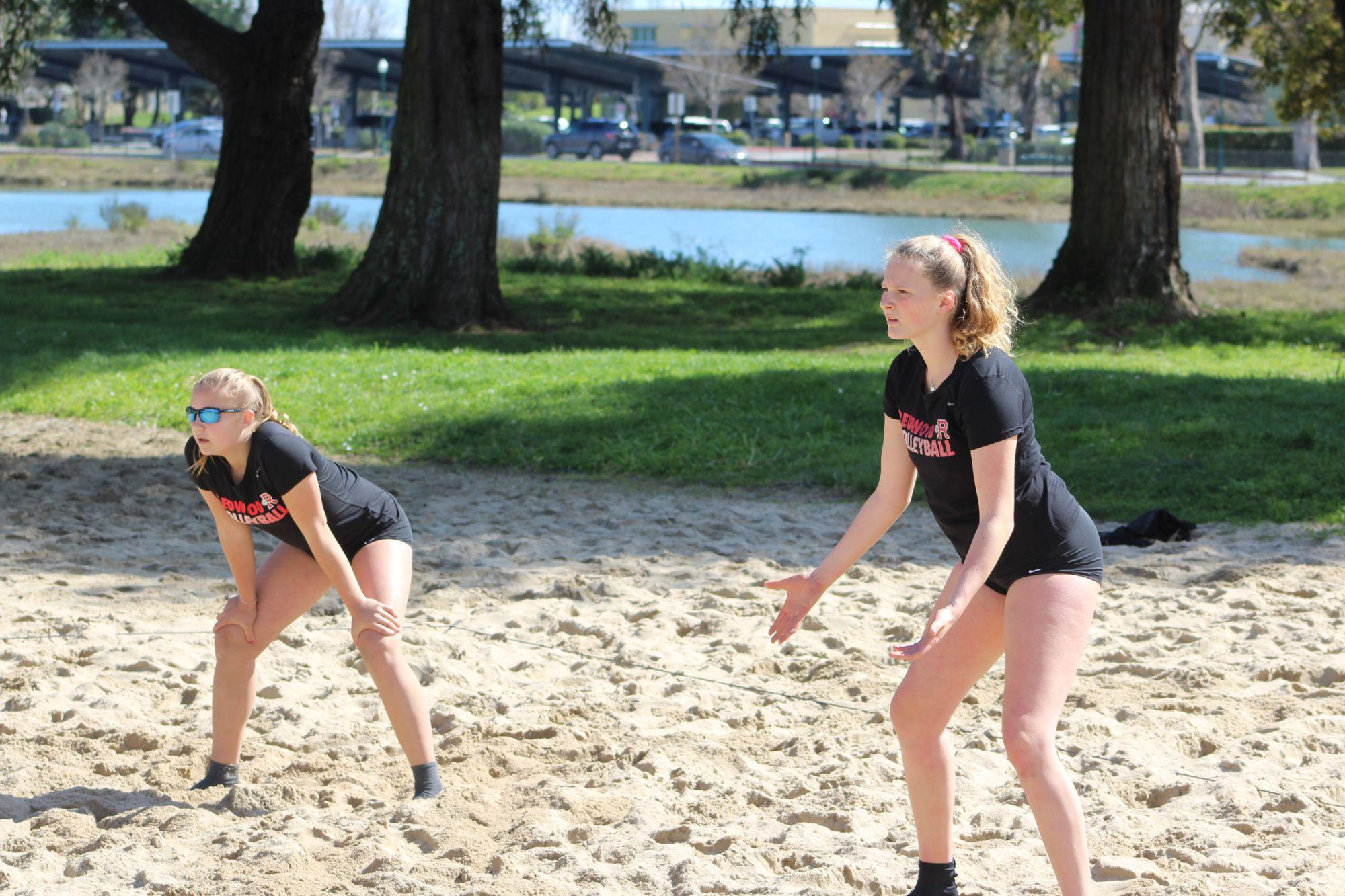 Girls' volleyball takes to the sand to compete in new beach league