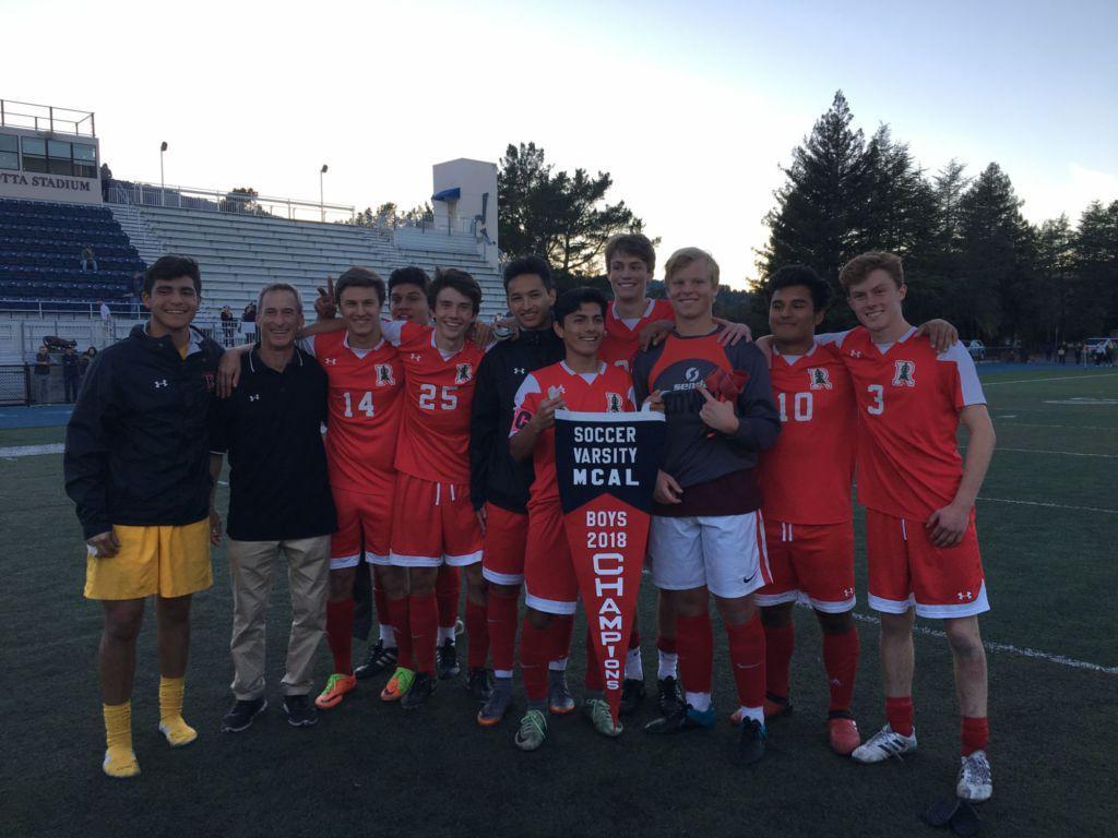 Boys' varsity soccer secures MCAL pennant against Marin Catholic