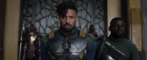 Eric Killmonger is brought before the king