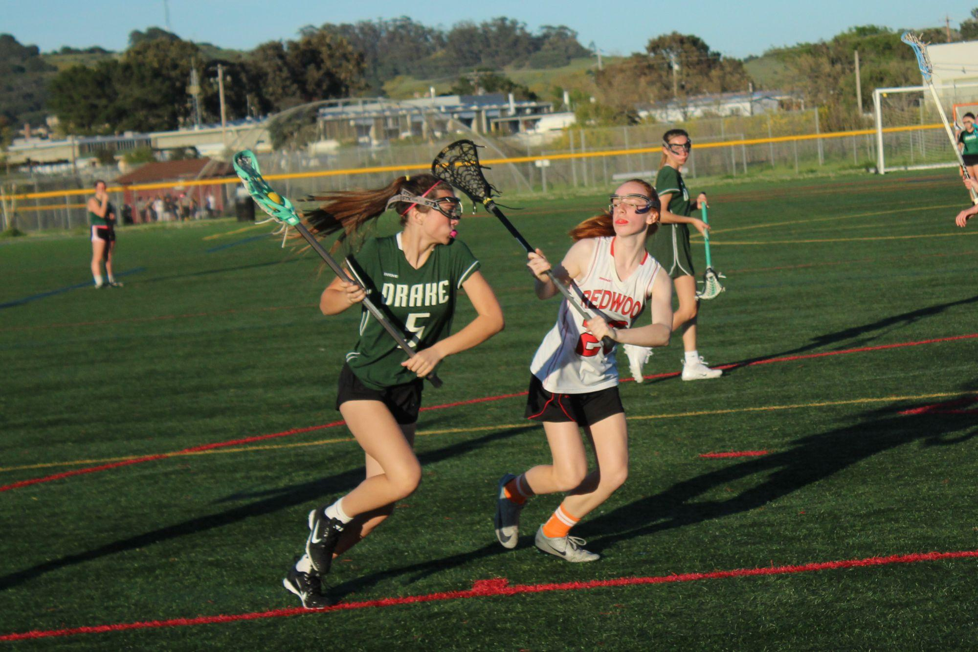 Girls' JV lacrosse cruises past Drake after tough loss