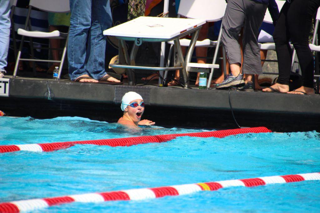 Birchenough reacts to time in 100-yard freestyle in 2017