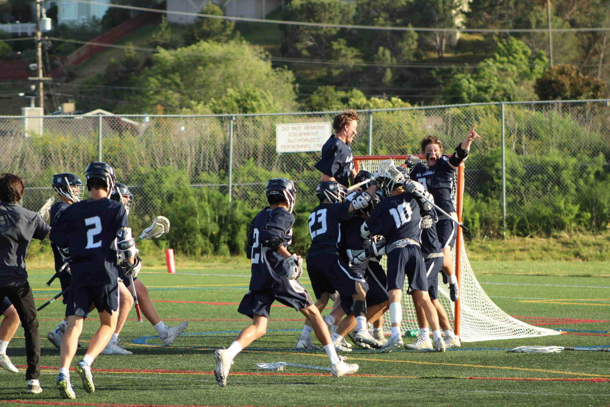 Marin+Catholic+players+celebrate+after+winning+this+NCS+playoff+game+by+one+point.