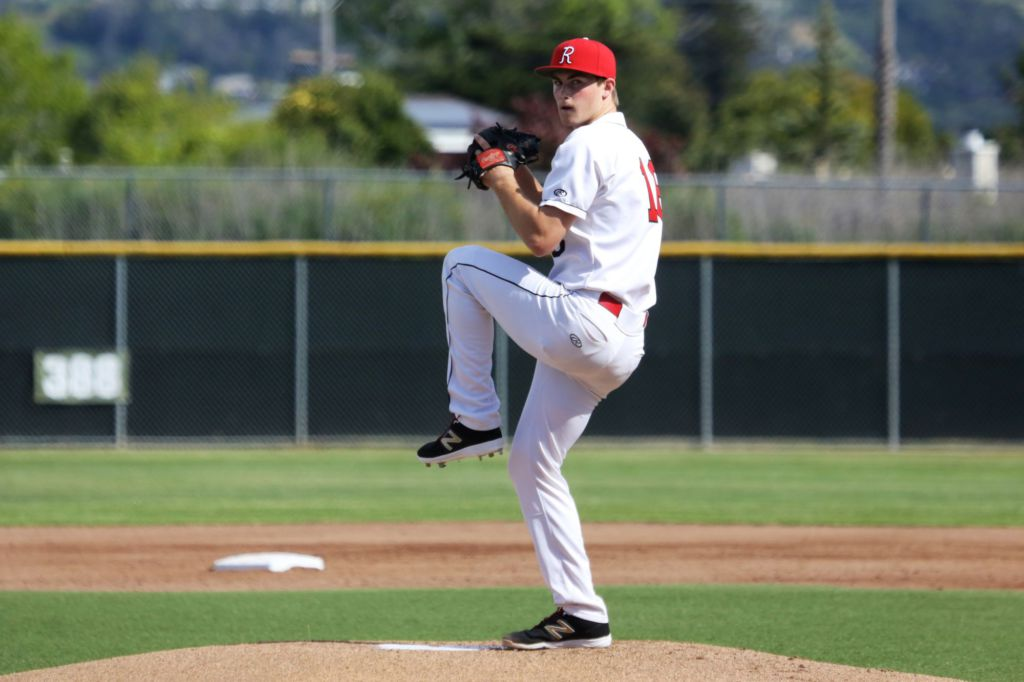 Sophomore+Nick+Welch+started+as+pitcher+for+Redwood+in+the+game+against+Tam.+Photo+courtesy+of+Jordan+Warren.+