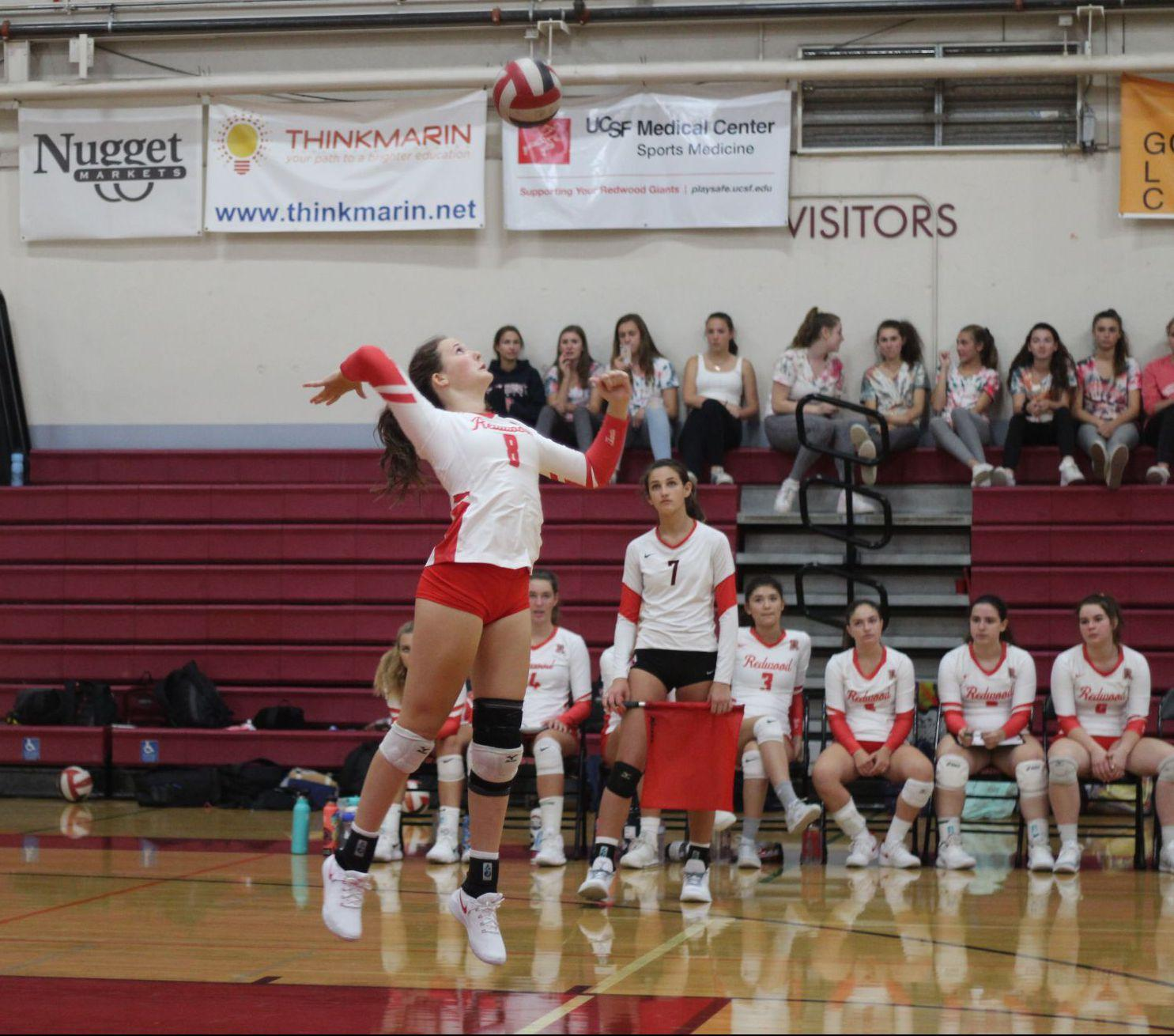 Girls' varsity volleyball serves Tam to keep winning streak