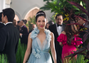 Rachel Chu, played by Constance Wu, makes a head-turning appearance at the wedding