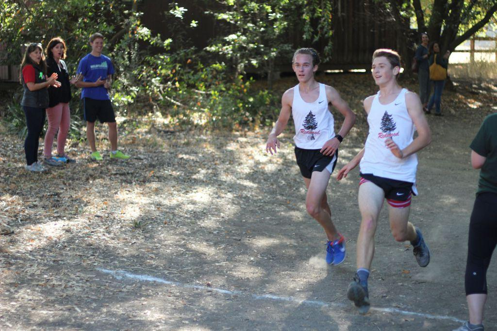 Boys' varsity cross country gets a running start to the season at dual meet